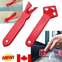 2PC Negative Angle Scraper Shovel Removal Glass Sealant Floor Plastic Blade Tool