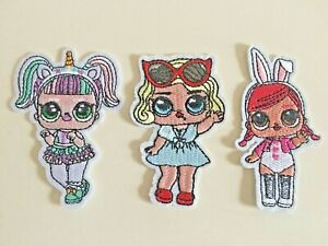 L.O.L Surprise Dolls Embroidered Iron On / Sew On Patches Badges LOL Unicorn
