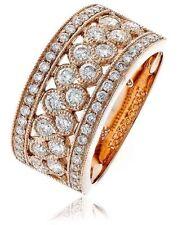 Engagement Band Not Enhanced Rose Gold Fine Rings