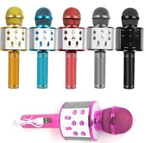 Microfono bluetooth karaoke altoparlante cassa speaker colorato voce LoL ridere