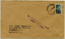 SOUTH AFRICA PRINTED RATE 1945 PASSED by CENSOR HANDSTAMP to MARIANNHILL MISSION