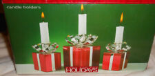 Home For The Holidays - 3 Piece Silver Plated Candle Holder set Holiday Packages