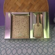 Coach Star Glitter Gold Passport Case & Luggage Tag Boxed Set