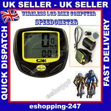 New Wireless LCD Bicycle Bike Waterproof Computer Speedometer Odometer Sports
