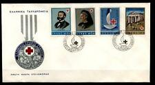 100 Jahre Intern. Rotes Kreuz. FDC. Griechenland 1963