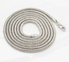 "36"" 3mm Mens Diamond Cut Snake Chain Necklace Real 925 Sterling Silver 28.3gr"