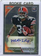 2010 TOPPS CHROME #C168 MONTARIO HARDESTY AUTOGRAPH ROOKIE RC- CLEVELAND BROWNS