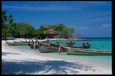 147099 Phi Phi le barcos en Playa A4 Foto Impresión