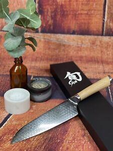 "Shun Hikari 7"" Asian Cook's Chef Knife HDM0760 Duel Core Damascus Steel"