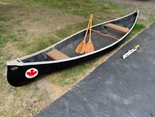 Great Canadian Canoe with Bent Style Oars and Motor Mount! Excellent Condition!