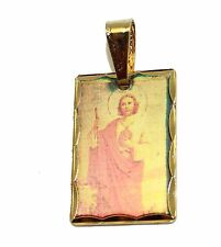 San Judas Tadeo Medal GoldPlated with 18 inch Chain - St. Jude Thaddeus Medal