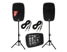 MR DJ PBX210COMBO PORTABLE ALL IN ONE PERSONAL PA/DJ SYSTEM 2X10 3000W Bluetooth