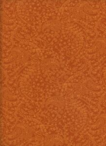 Harvest Homecoming Brown Paisley 1 Fat Quarter cotton fabric quilt quilting sew