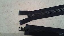 Fermeture Éclair YKK Noir 70 cm Séparable Double curseur