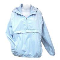 Starter Womens XL Windbreaker 1/4 Zip Popover Packable Jacket Blue X Large