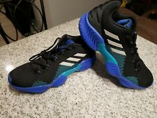 Adidas Pro Bounce 2018 Low Men's Basketball Shoes Black Sneakers AC7427 Size 10