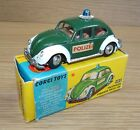 Original Mint & Boxed Corgi 492 VW Beetle1200  Polizei  European Police Car