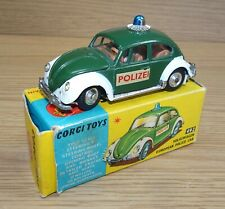 Original Mint & Boxed Corgi 492 VW Beetle1200  'Polizei'  European Police Car