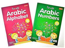 Fun WIth Arabic Numbers Alphabet 2 Book Set Activities Wipe