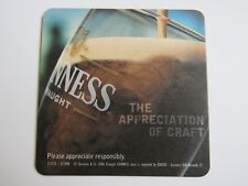Beer Bar Coaster: Guinness Draught Stout ~ The Appreciation of Craft ~*~ Ireland