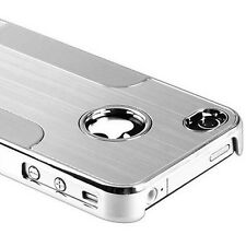 Apple iPhone 4  4S Cover Chrome Alu Hard Case für Schutz Hülle Metall  B-Ware