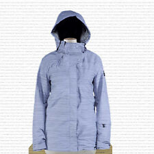 New 2014 Ride Womens Madison Snowboard Jacket Medium Chalk Violet Slub