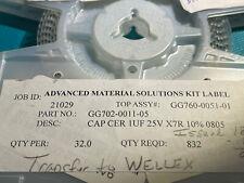 ceramic capacitor 1uf 25v 10% Smd 805 (250 Pcs)