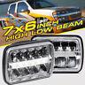 "PAIR 7X6"" 5X7"" 45W High Low Beam DRL CREE LED Headlight Bulb Clear Sealed H4 HID"