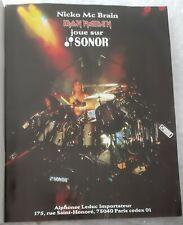 Publicité advert advertising IRON MAIDEN 1987 NICO MC BRAIN pub batterie Sonor