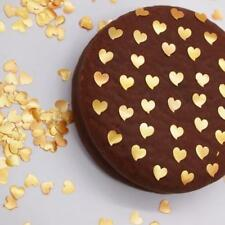 Gold Glitter Heart Natural Cake Decorations Edible Toppers Nuts Gluten Soy Free