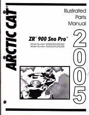 2005 ARCTIC CAT SNOWMOBILE ZR 900 SNO PRO PARTS MANUAL P/N 2257-135  (470)