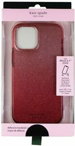 kate spade Defensive Hardshell Case for iPhone  12 Pro Max Glitter Ombre Magenta