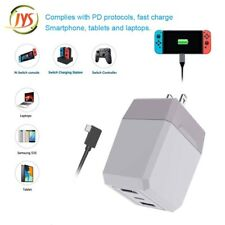 2 in 1 Fire Cow Base Switch Charging Dock Station for Game Phone TV AC Adapter