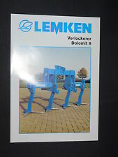 0151) LEMKEN Vorlockerer - Dolomit 9 - Prospekt Brochure 11.2001
