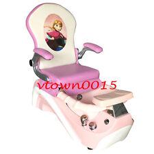 Elsa & Anna Kid Pedicure Chair / Nail Salon Massage Chair Mini Spa Chair PINK