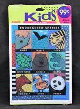 1993 Ambassador Hallmark 4 Sheet Kids Sticker Package. Endangered Species. Usa