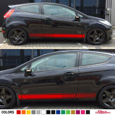 Decal Sticker Vinyl Side Stripes For Ford Fiesta RS Racing Hood Door Body Kit