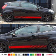 Decal Sticker Vinyl Side Stripes For Ford Fiesta RS Racing Hood Door Body Kit