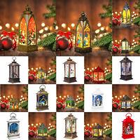 Christmas Santa Claus/Snowman/Elk Lamp Flame Light Hanging LED Lantern Ornaments