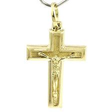 10k Yellow Gold Cross Pendant, (beautiful NEW design, 2.50g large crucifix)1255a
