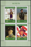 Madagascar 2019 MNH Boy Scouts Baden-Powell 4v M/S Scouting Stamps