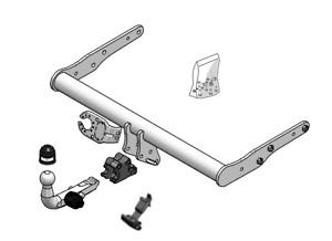Brink Towbar for Volkswagen Transporter T5 2010-2015 - Detachable Tow Bar