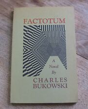 FACTOTUM by Charles Bukowski  - 1st/1st color title-page - black sparrow 1975