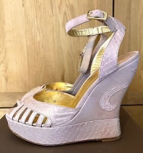 Terry De Havilland Margaux Dusty Pink Suede Wedges - Shoes Worn Once UK6 EU39