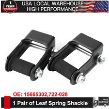 For Chevy Blazer S10 GMC Jimmy S15 1 Pair Rear LH & RH Leaf Spring Shackle Kit
