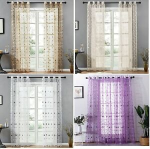 Window Modern Bird Nest Tulle Sheer Polyester Curtains Kitchen Living/Bed Rooms