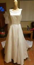 Private Collection wedding dress size 12 style 8525 white sleeveless beaded