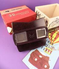 Sawyer's Vintage Brown Bakelite Model E Viewmaster with Box & Reel List