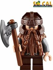LEGO Lord of the Rings Gimli Minifigure with Axe NEW