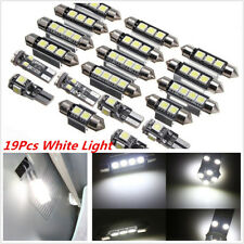 19Pcs White Car LED Lamp Interior LED Light Kit  For Most Car Universal